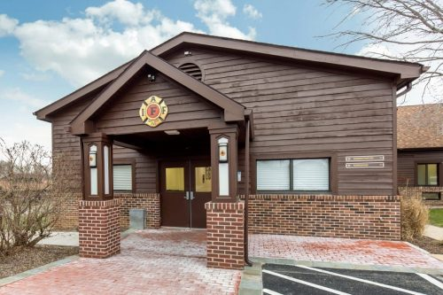 front entrance to iaff center of excellence